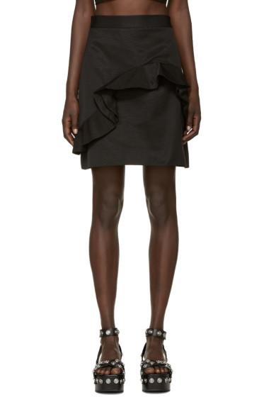 MSGM - Black Ruffled Miniskirt