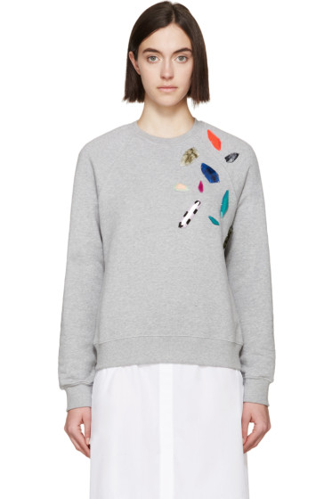 MSGM - Grey Stone Embellished Pullover