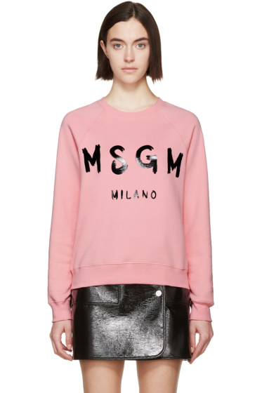 MSGM - Pink Logo Pullover