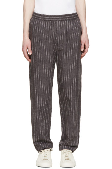 MSGM - Grey Pinstripe Trousers