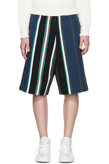 MSGM - Multicolor Striped Shorts