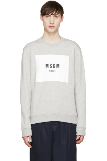 MSGM - Grey Logo Pullover