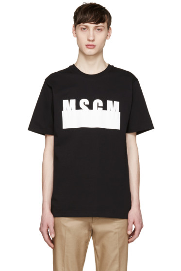 MSGM - Black Covered Logo T-Shirt