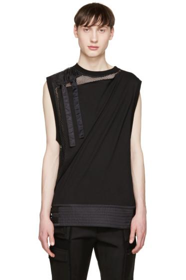 KTZ - Black Layered Buckle Vest