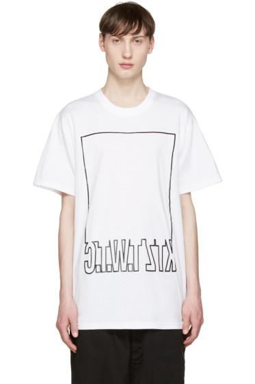 KTZ - White Mirrored Logo T-Shirt