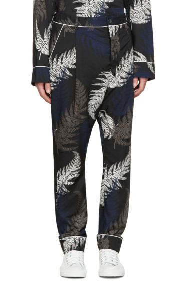 Sacai - Multicolor Leaf Print Trousers