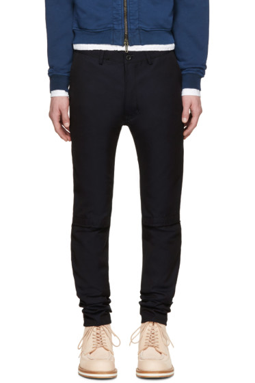 Sacai - Navy Twill Trousers