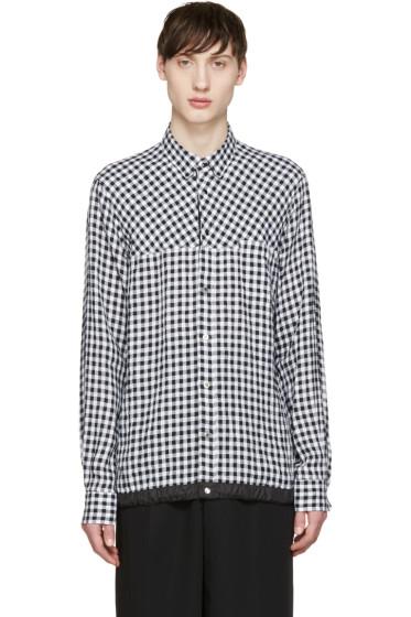 Sacai - Black & White Gingham Shirt