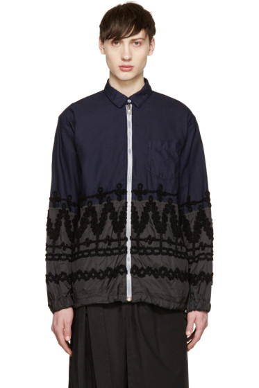 Sacai - Navy & Black Shirt Jacket