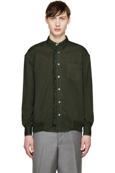 Sacai - Green Ruffled Shirt
