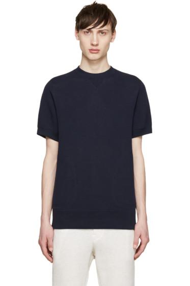 Sacai - Navy Short Sleeve Sweatshirt