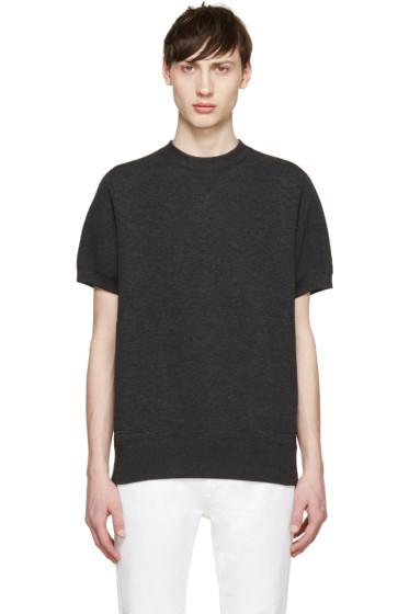 Sacai - Grey Short Sleeve Sweatshirt