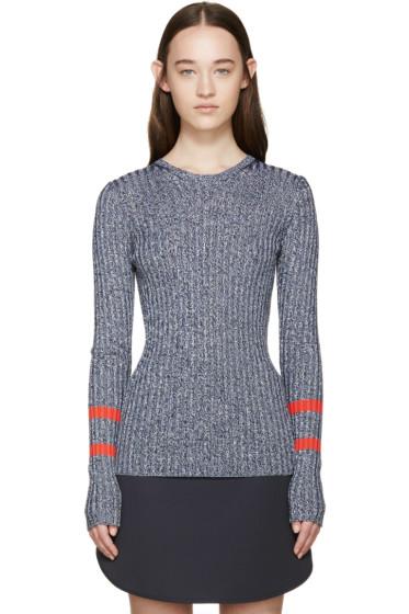 Mary Katrantzou - Navy Knit Fontaine Sweater