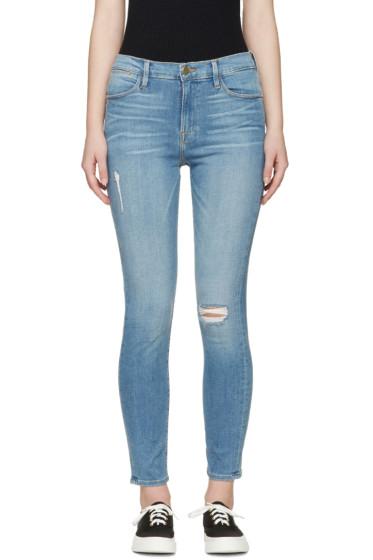 Frame Denim - Blue Skinny Le High Jeans