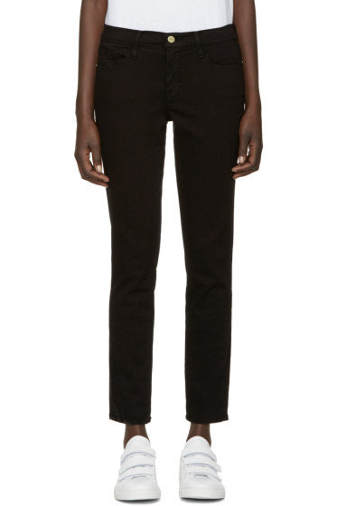 Frame Denim - Black Cropped Le Color Jeans