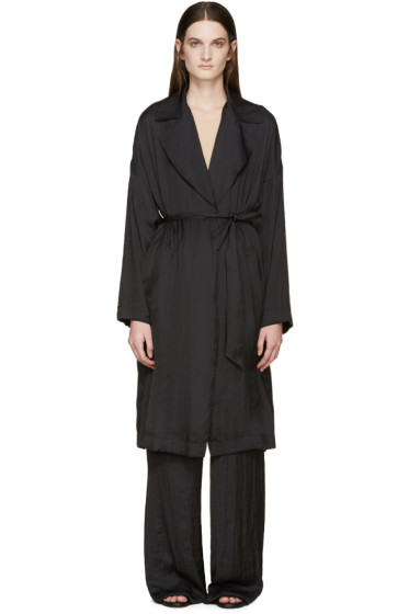 Cédric Charlier - Black Satin Coat