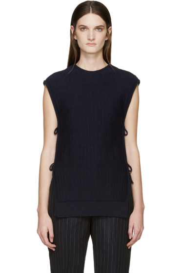 Cédric Charlier - Navy Side-Tie Sweater