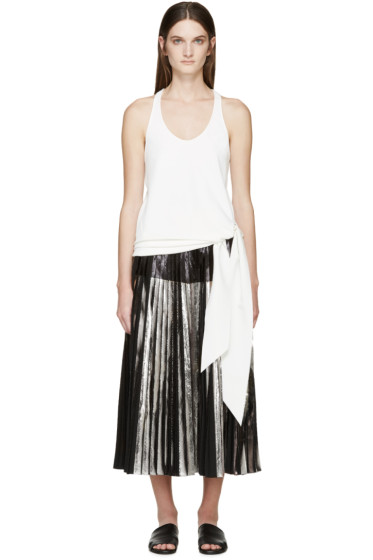 Cédric Charlier - White Knotted Tank Top