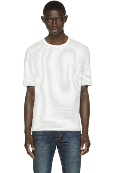 Nanamica - White Dotted Stripe T-Shirt