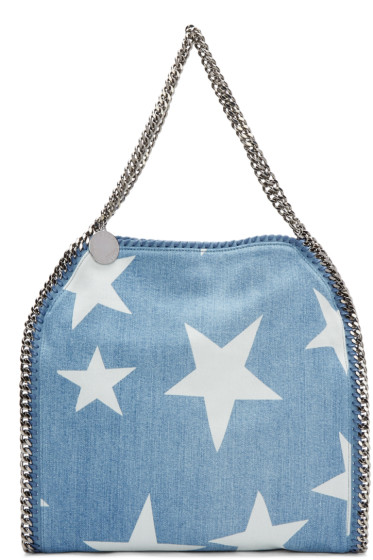 Stella McCartney - Blue Denim Falabella Stars Tote