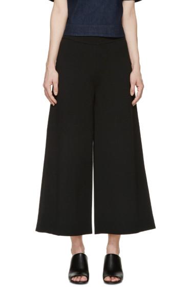 Stella McCartney - Black Knit Wide-Leg Trousers
