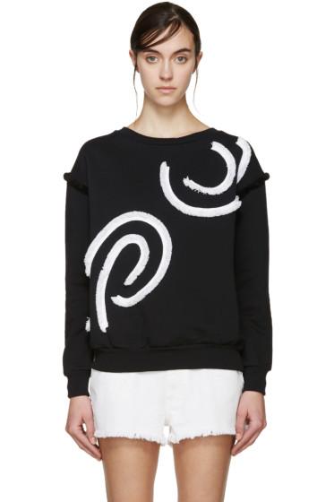 Stella McCartney - Black & White Fringed Swirl Pullover