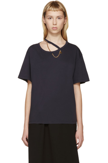 Stella McCartney - Navy Falabella Chain T-Shirt