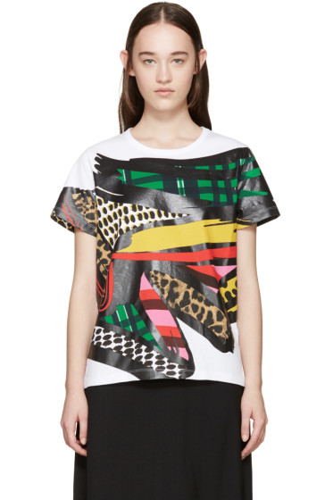 Stella McCartney - White & Multicolor Paint Stroke T-Shirt