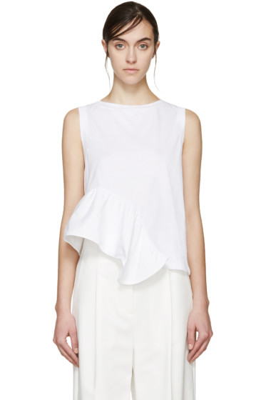 Stella McCartney - White Ruffled T-Shirt
