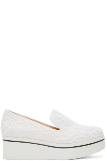 Stella McCartney - White Lace Platform Binx Sneakers