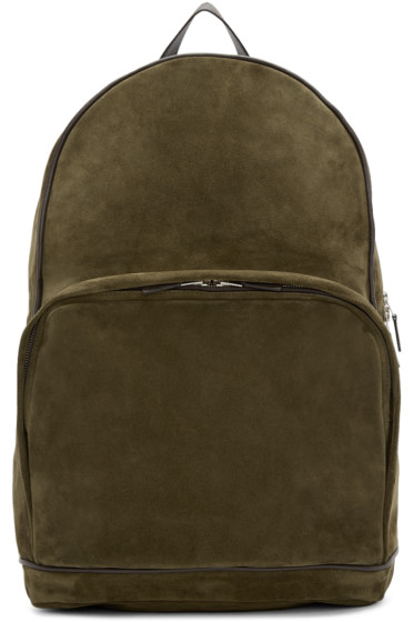 Umit Benan - Green & Brown Suede City Backpack