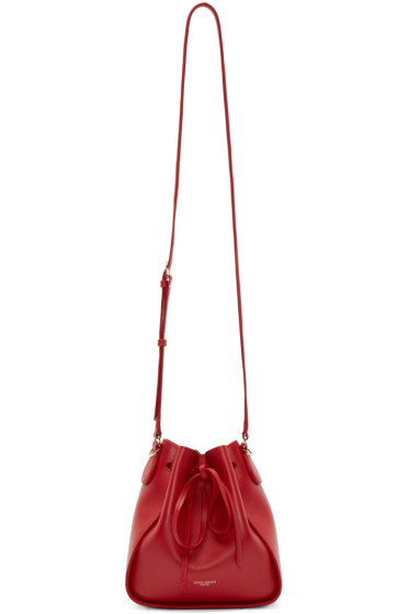 Nina Ricci - Red Leather PM Pinson Bucket Bag