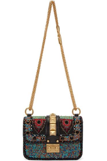 Valentino - Black Mini Embroidered Rockstud Bag