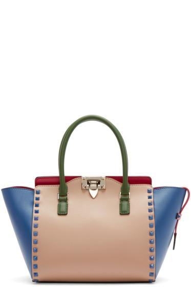 Valentino - Multicolor Leather Small Rockstud Tote