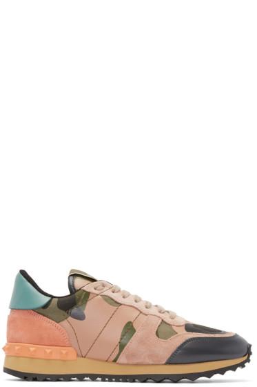 Valentino - Multicolor Camouflage Rockstud Sneakers