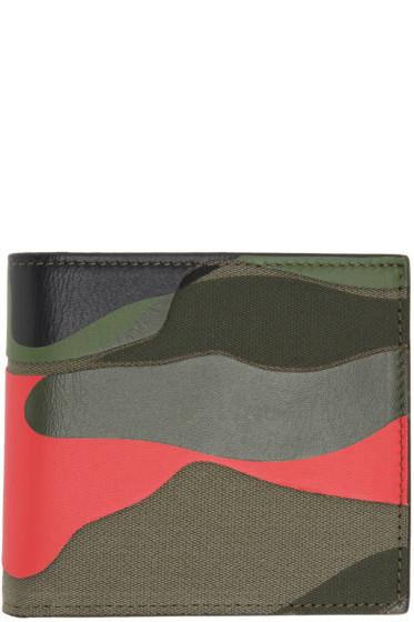 Valentino - Green Camo Bifold Wallet