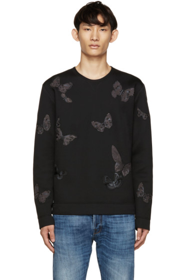 Valentino - Black Neoprene Butterfly Pullover