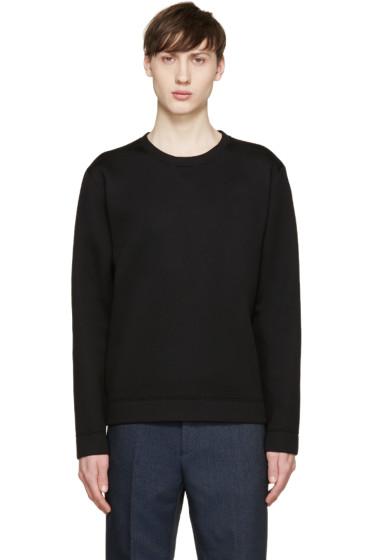 Valentino - Black Neoprene Stud Sweatshirt