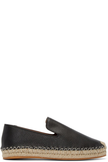Valentino - Black Leather Espadrilles
