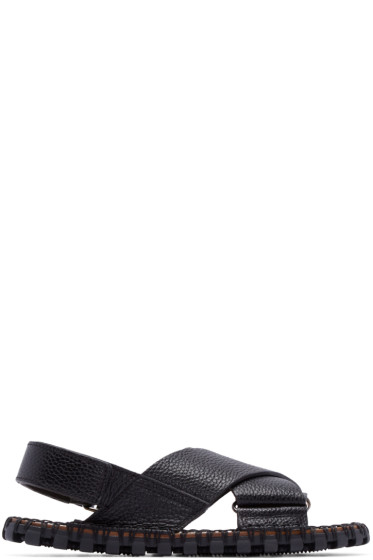 Valentino - Black Leather Sandals