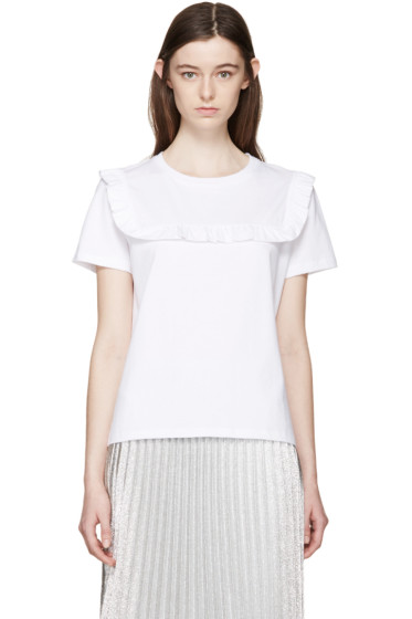 J.W.Anderson - White Frill T-Shirt