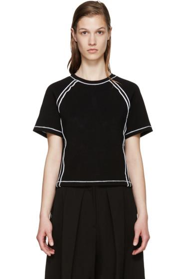 J.W.Anderson - Black Contrast Seam T-Shirt