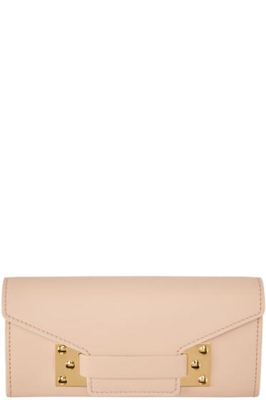 Sophie Hulme - Pink Leather Envelope Wallet