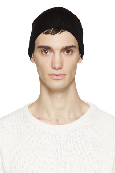 AMI Alexandre Mattiussi - Black Wool Beanie