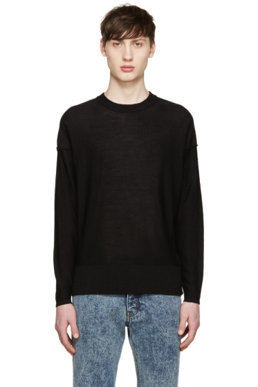 AMI Alexandre Mattiussi - Black Inside-Out Sweater