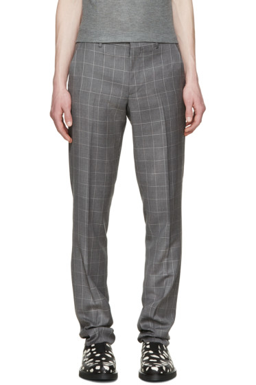 Paul Smith London - Grey Windowpane Check Trousers