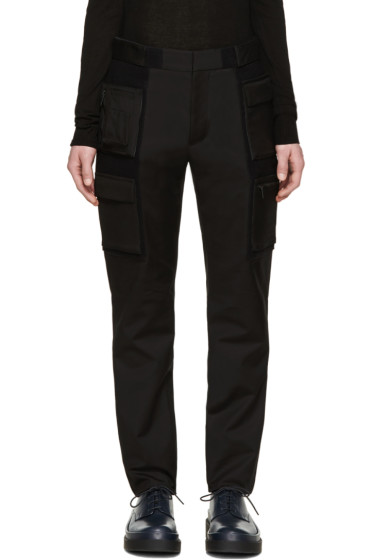 Calvin Klein Collection - Black Velcro Cargo Trousers