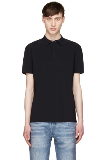 Calvin Klein Collection - Black Laser-Cut Polo