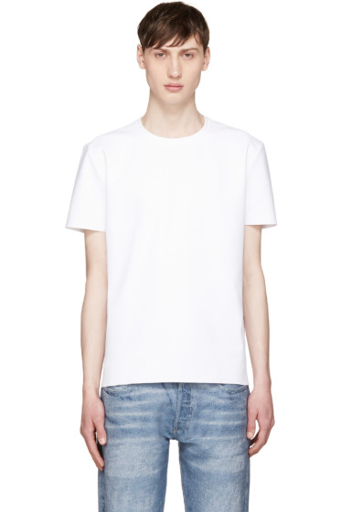 Calvin Klein Collection - White Laser-Cut T-Shirt