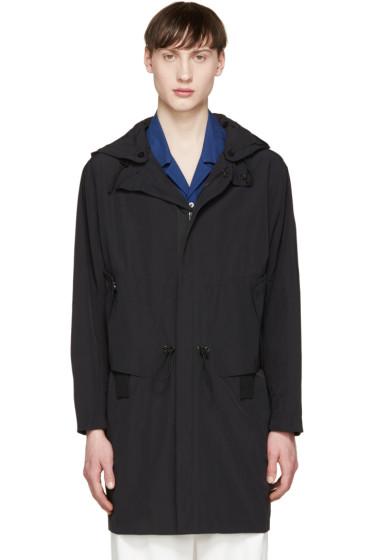 Tim Coppens - Black Nylon Hooded Coat